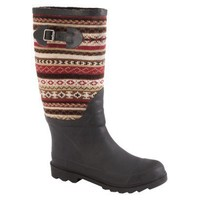 Junior,Women MUK LUKS?- Fairisle Rain Boots : Target