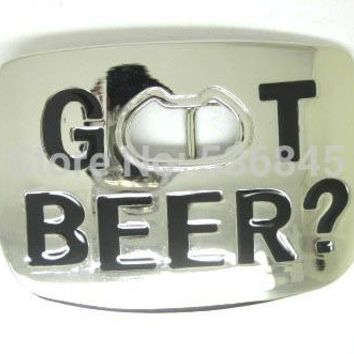 GOT BEER Bottle Opener Belt Buckle