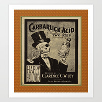 skeletal gentleman Art Print by Kathead Tarot/David Rivera