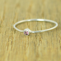 Tiny Sterling Silver Alexandrite Ring