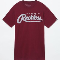 Young & Reckless HD Big R Script T-shirt - Mens Tee - Maroon