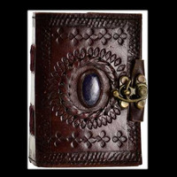 Stone Eye Genuine Leather Blank Journal with Latch