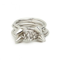Silver Ice Stud Rings - Rings - All Jewelry