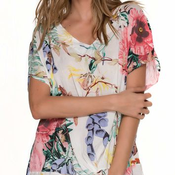 Malai Flowery Twister Cover Up  CU0211-FLW