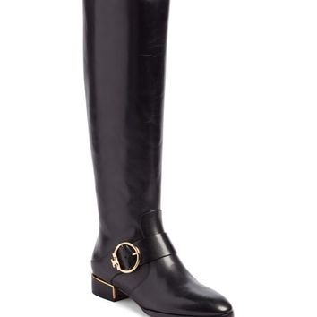 Tory Burch Sofia Buckled Riding Boot (Women) (Regular & Wide Calf) | Nordstrom