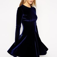Needle & Thread Velvet Flare Dress