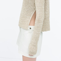 Double cloth shorts with press studs at waist
