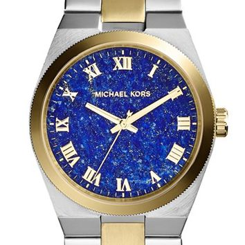 Women's Michael Kors 'Channing' Lapis Dial Bracelet Watch, 38mm