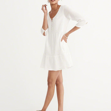 Womens Pintuck Dress | Womens Dresses & Rompers | Abercrombie.com