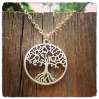 Handmade Antique Silver Tree of Life Necklace