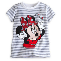 Disney Minnie Mouse Striped Tee for Girls | Disney Store