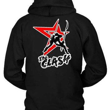 The Clash London Calling Star Second Logo Hoodie Two Sided