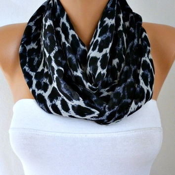Leopard Print Infinity Scarf Shawl Circle Scarf Loop Scarf Cowl Scarf Gift Ideas For Her Women Fashion Accessories