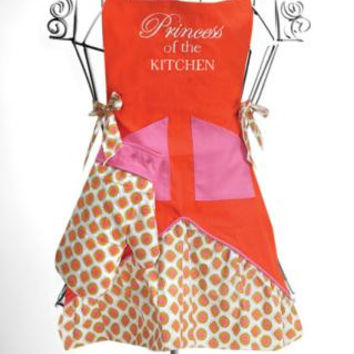 "Girl's Chef's Apron Set -  "" Princess Of The Kitchen """