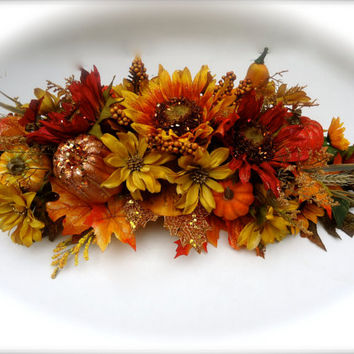 Fall Centerpiece, Dining Table Centerpiece, Autumn Centerpiece, Thanksgiving Arrangement, Thanksgiving Dinning Table Floral