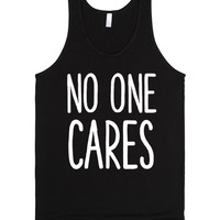 NO ONE CARES | Tank Top | SKREENED