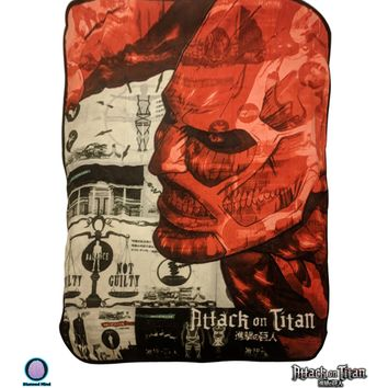 Attack on Titan OFFICIAL Snug & Warm Decorative Fleece Throw Wall Hanging Tapestry Blanket