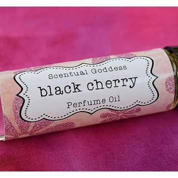 BLACK CHERRY Perfume Oil - Sweet Tart Cherries Mixed With a Bit of Cream - Subtle & Sexy!