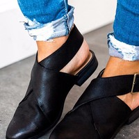 Buckled Cutout Bootie