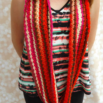 Wool Infinity Scarf - Multicolored wool cowl - Fall colors - Infinity Cowl - Fall Fashion Cowl - layering cowl - layering infinity scarf