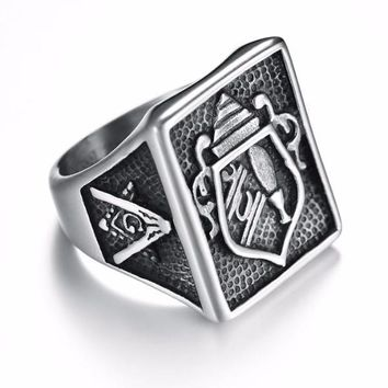 Punk Vintage Masonic Ring