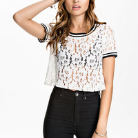 Lace T-Shirt, NLY Trend
