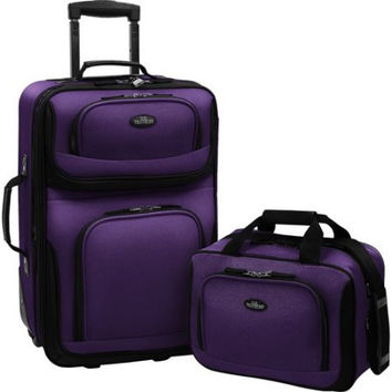 2-Piece Carry-On Travel Wheeled Rolling Suitcase Luggage Set Baggage Set Luggage Set