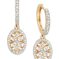 Victoria Townsend Sterling 18k Gold over Silver Earrings, White Topaz (1-1/3 ct. tw.) and Diamond Accent Drop Earrings
