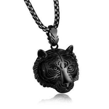 Lion Head Pendant Necklace