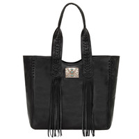 Mohave Canyon Large Zip Top Tote - Black