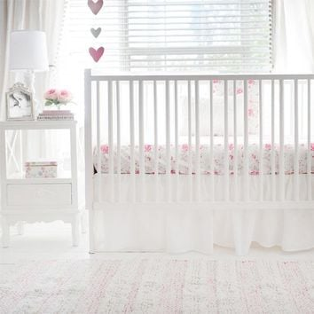 Nostalgic Rose 2 Piece Crib Baby Bedding Set