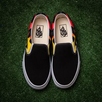 Trendsetter  Vans x Thrasher Slip-On Pro Canvas Print Flats Sneakers Sport Shoes
