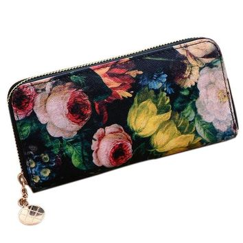 Beautiful Floral Wallet Purse