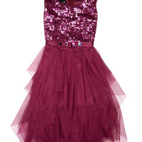 Biscotti Girls 7-16 Sequined Dress with Tulle Skirt