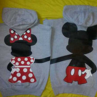 Free Shipping for US Full Body Mickey and Minnie Mouse Couples Hoodies