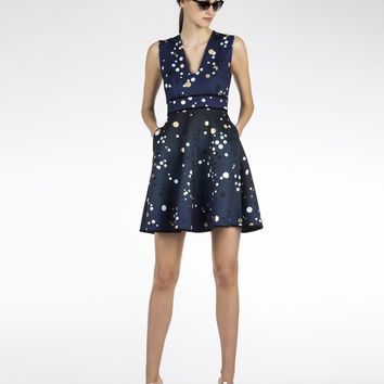Cynthia Rowley - Bonded V-Neck Party Dress | New Arrivals