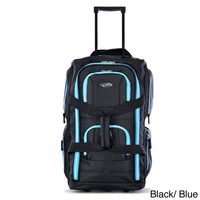 Olympia 22-inch Carry-on 8-pocket Rolling Upright Duffel Bag | Overstock.com Shopping - The Best Deals on Duffel Bags