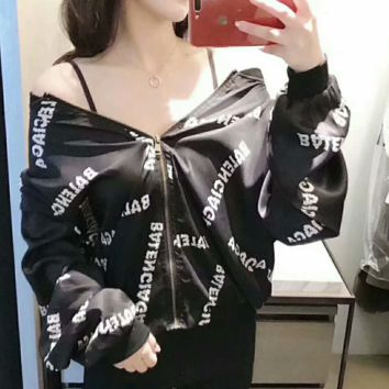 Balenciaga  Fashion Casual Long Sleeve Monogram Zip Cardigan Sweatshirt Jacket Coat G-AGG-CZDL