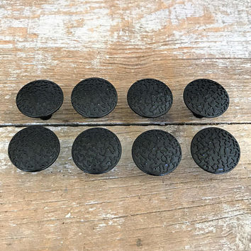 Drawer Pulls 7 Drawer Knobs Black Drawer Pulls Retro Black Knobs Dresser Drawer Knobs Cabinet Door Knobs Mid Century Hardware