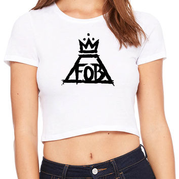 Fall Out Boy Logo Crop T-shirt