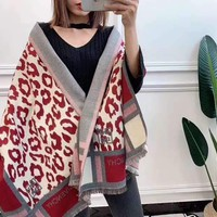 """Givenchy""Woman Casual Fashion Classic Comfortable Double Sided Square Pattern Scarf"