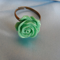 Turquoise ring,Beautifull ring,Ocean blue flower ring