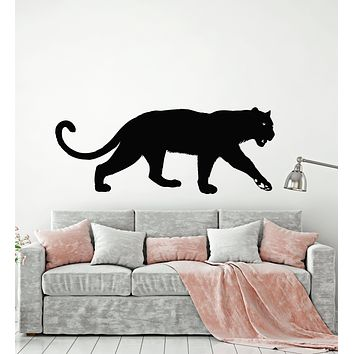 Vinyl Wall Decal Wild Big Cat  Beast Predator Animal Panther Stickers Mural (g3013)