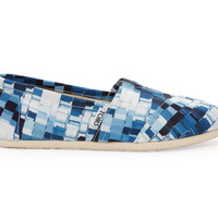 TOMS Ink Satin Paint Chips Women's Classics Blue