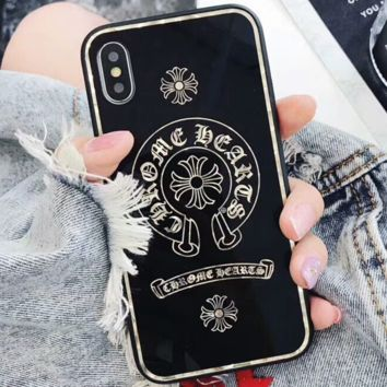Chrome Hearts iPhone7/8 Phone Case Mirror Plating Shell