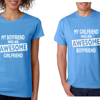 Awesome girlfriend Awesome boyfriend Couple Shirts Valentines day