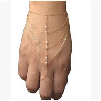 Gift Hot Sale Stylish Awesome Shiny New Arrival Great Deal Crystal Rhinestone Ring Bracelet [27793621012]