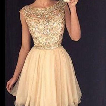 Gorgeous Homecoming Dress, Beading Homecoming Dresses