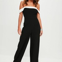 Missguided - Black Bandeau Jumpsuit