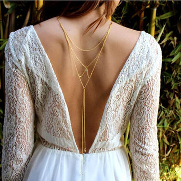 Charming Crossover Sexy Back Chain